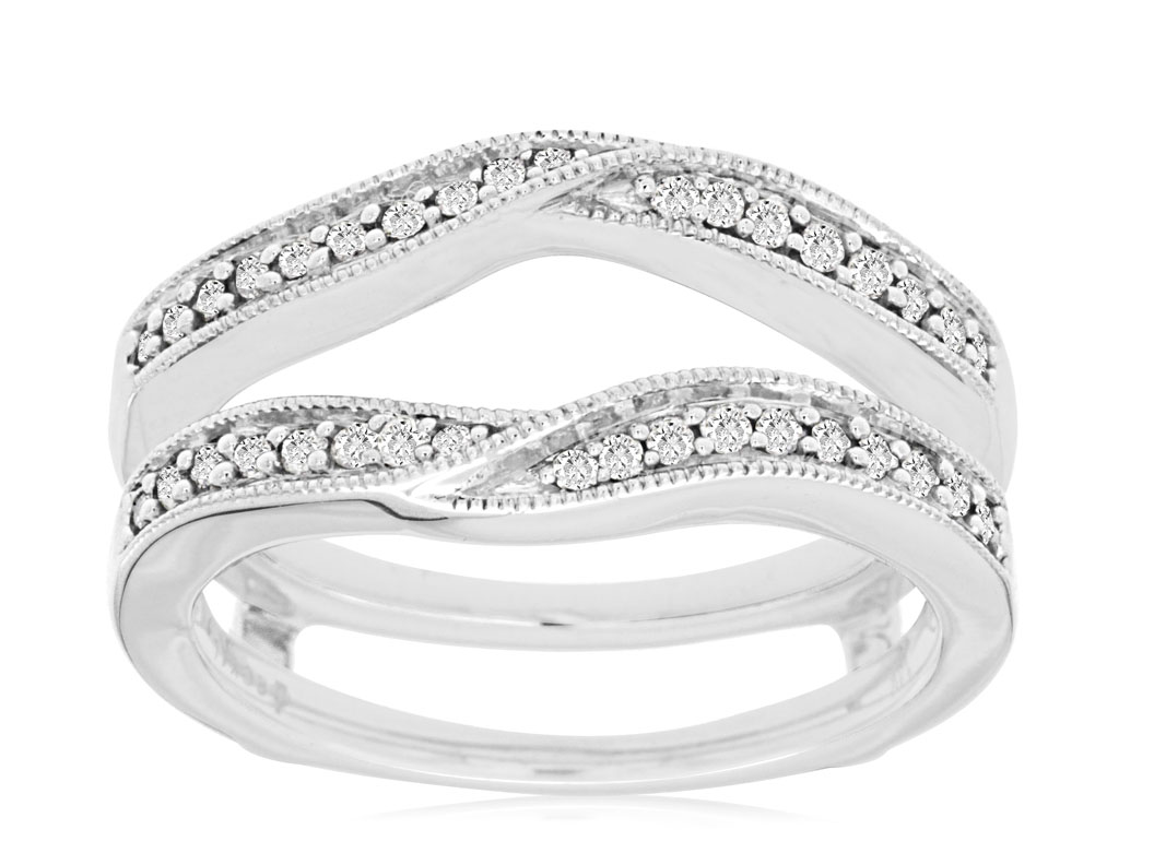 14Kt White Gold Diamond Guard by Royal Jewelry
