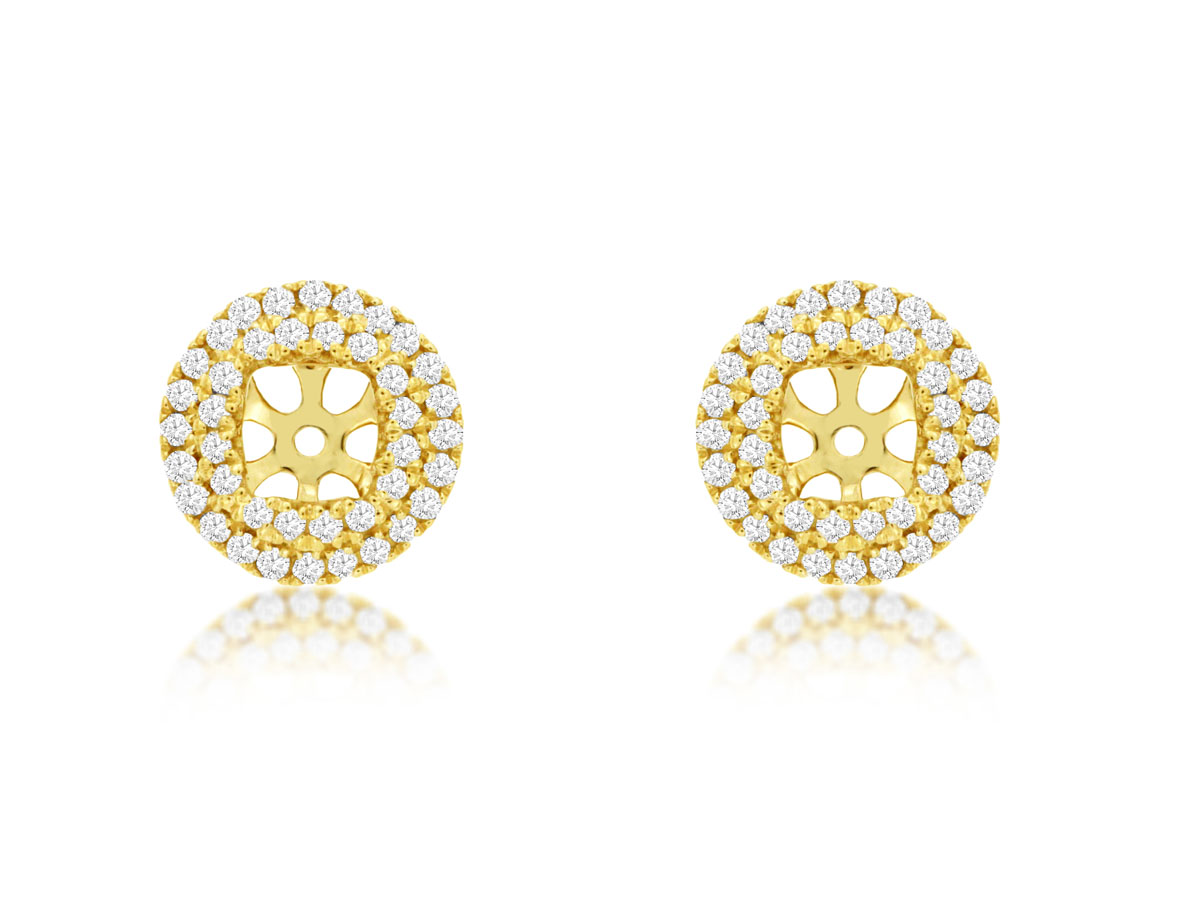 14K Yellow Gold Diamond Halo Jackets by Royal Jewelry