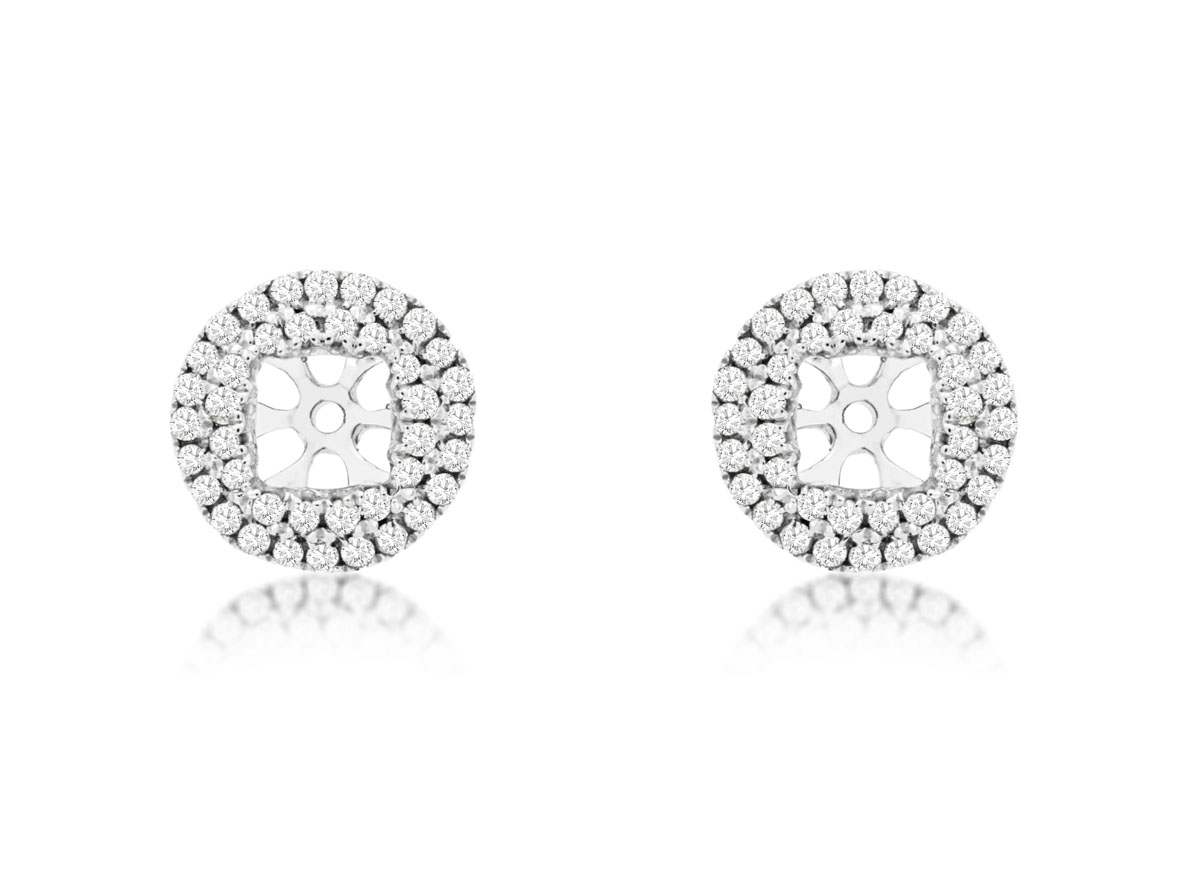 14K White Gold Diamond Halo Jackets by Royal Jewelry