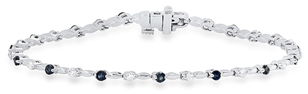 Ladies White Gold Sapphire and Diamond Bracelet by Samuel Spil Company