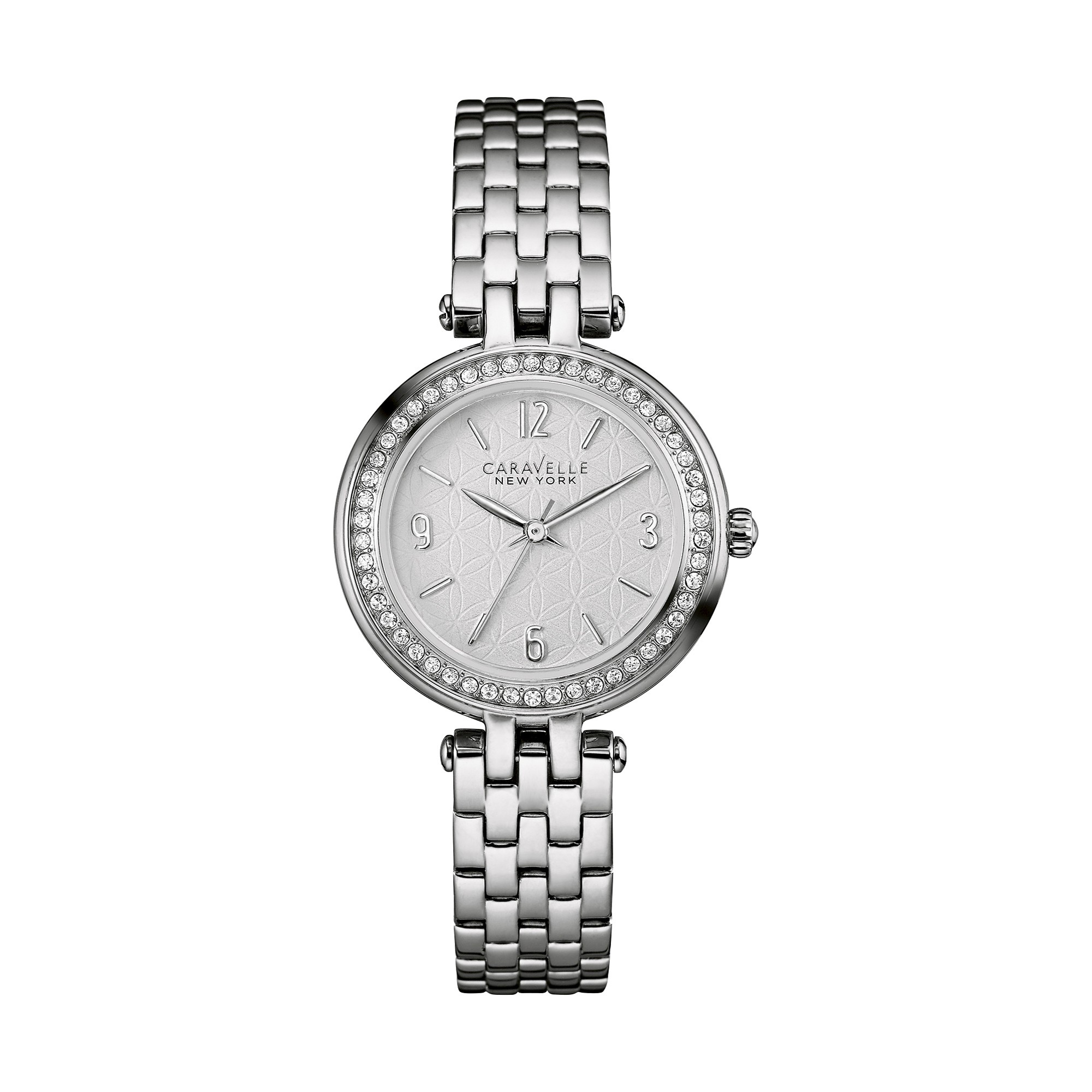 Caravelle New York Womens Dress Watch with White Dial 43L185 Bulova by Bulova