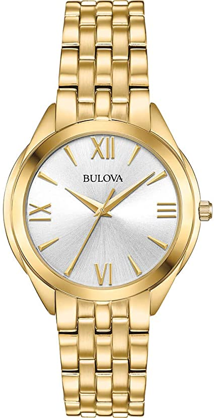 Bulova Classic Gold Tone Stainless Steel Womens Watch 97L160 by Bulova