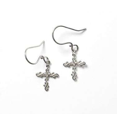 Southern Gates® Scrolling Vine Cross Earrings by Southern Gates